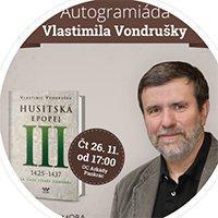 Autogramiáda Vlastimila Vondrušky v Arkádách Pankrác