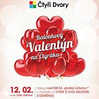 Na Čtyřáku se slaví Balónkový Valentýn