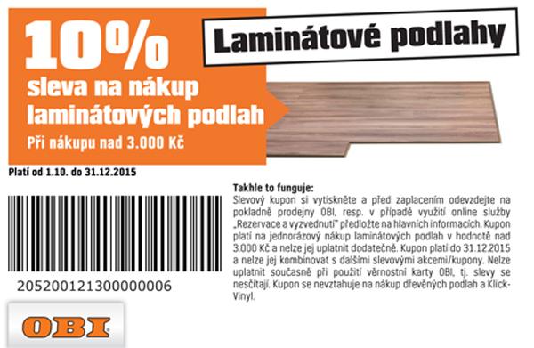 10 % sleva na nákup laminátových podlah