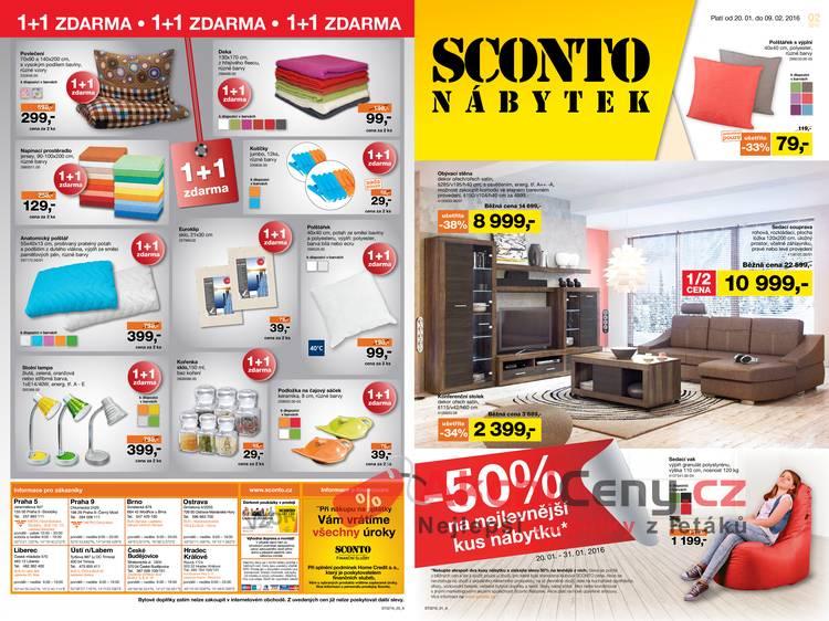 Leták Sconto nábytek - Sconto nábytek 20.1. - 9.2. - strana 1