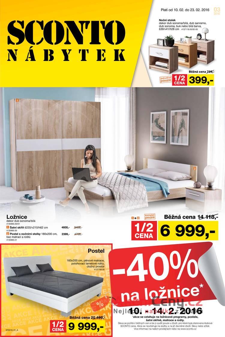 Leták Sconto nábytek - Sconto nábytek 10.2. - 23.2. - strana 1
