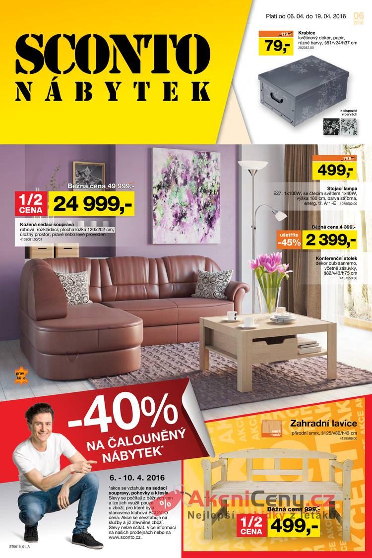 Leták Sconto nábytek - Sconto nábytek 6.4. - 19.4. - strana 1
