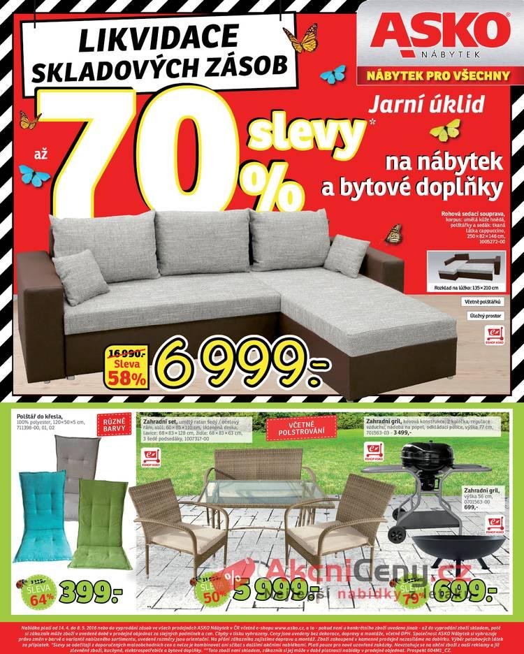Leták Asko nábytek - Asko nábytek II 14.4 - 8.5 - strana 1