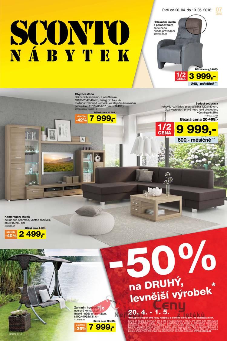 Leták Sconto nábytek - Sconto nábytek 20.4. - 10.5. - strana 1