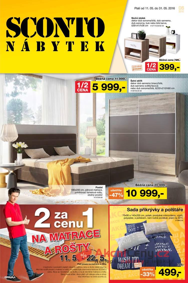 Leták Sconto nábytek - Sconto nábytek 11.5. - 31.5. - strana 1