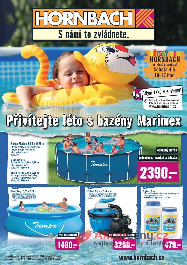 Leták HORNBACH - Hornbach bazény 25.5. - 22.6. - strana 1