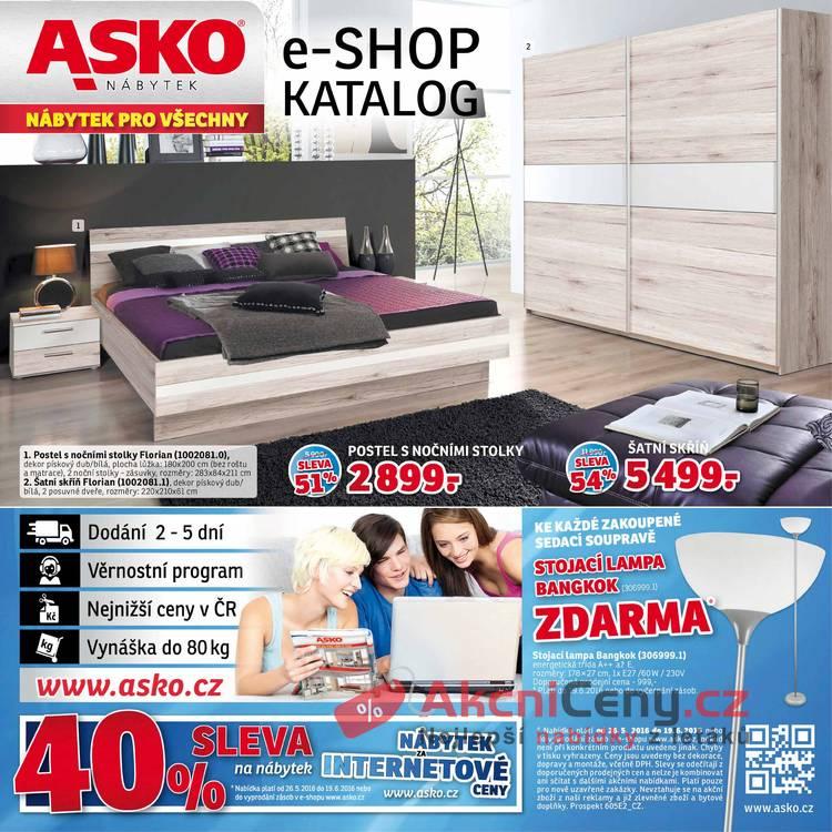 Leták Asko nábytek - Asko nábytek e-shop  26.5 - 19.6 - strana 1