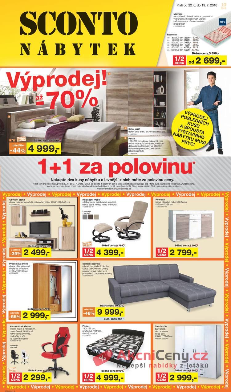 Leták Sconto nábytek - Sconto nábytek 22.6. - 19.7. - strana 1