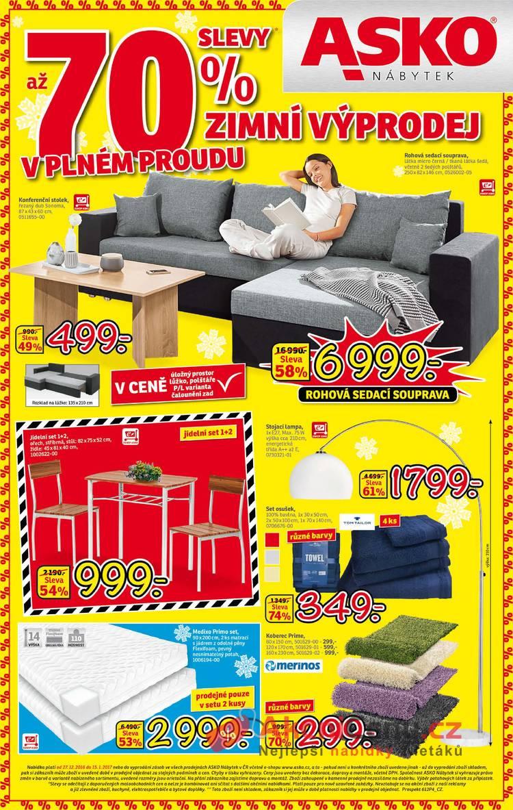 Leták Asko nábytek - Asko nábytek 27.12 - 15.1 - strana 1