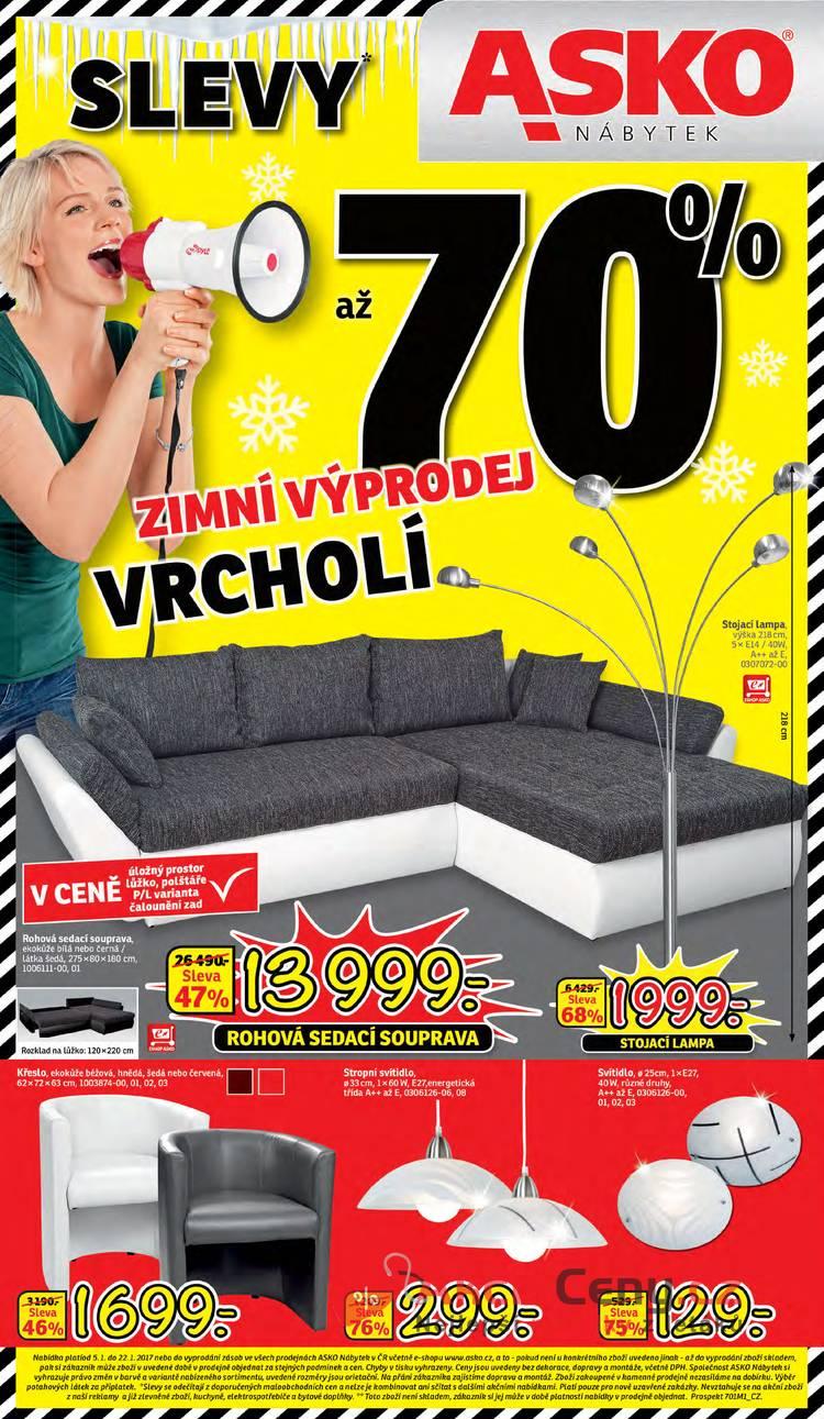 Leták Asko nábytek - Asko nábytek 5.1 - 22.1 - strana 1