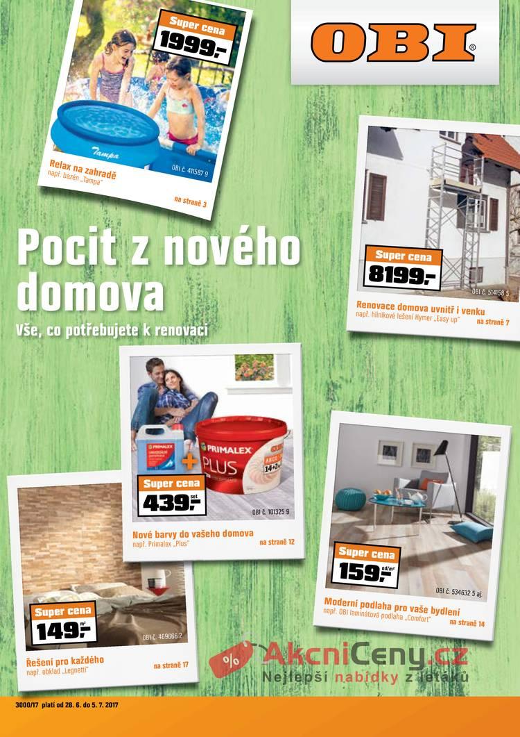 Leták OBI - OBI 28.6. - 5.7. - strana 1