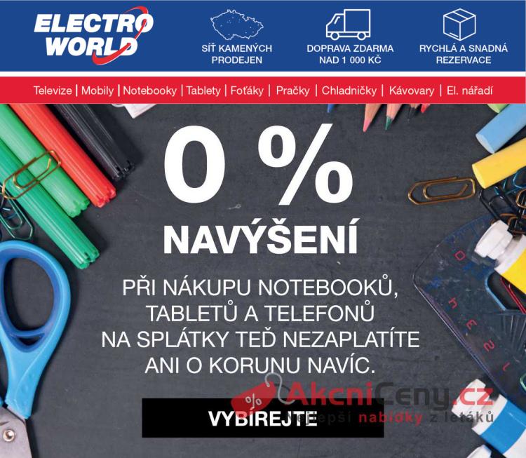 Leták Electro World - Electro World NL 17.8. - 23.8. - strana 1