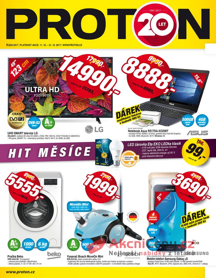 Leták Proton - Proton do 31.10. - strana 1