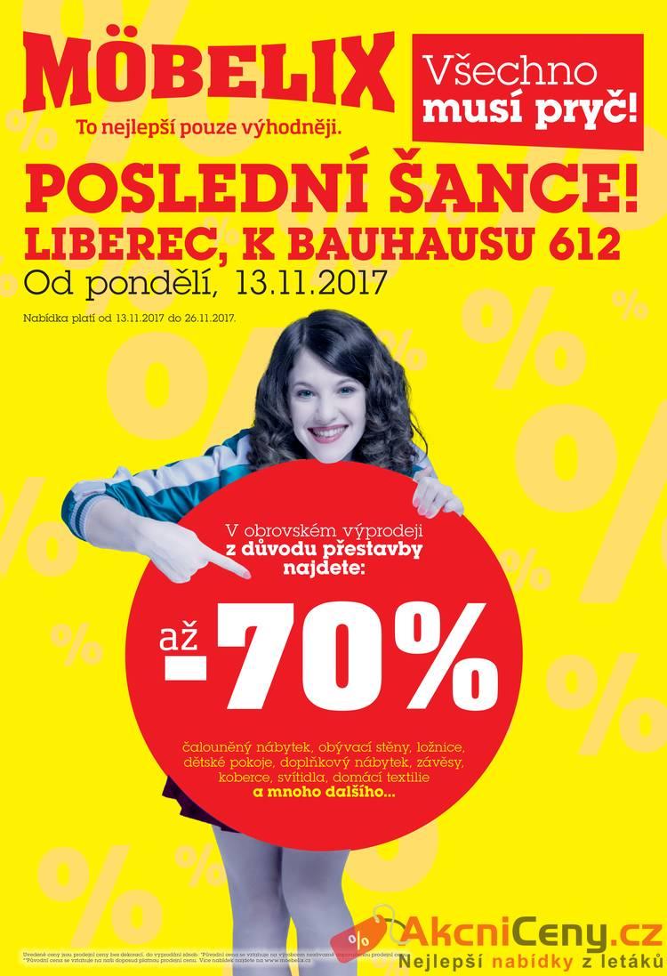 Leták Mobelix - Möbelix 13.11. - 26.11. Liberec - strana 1