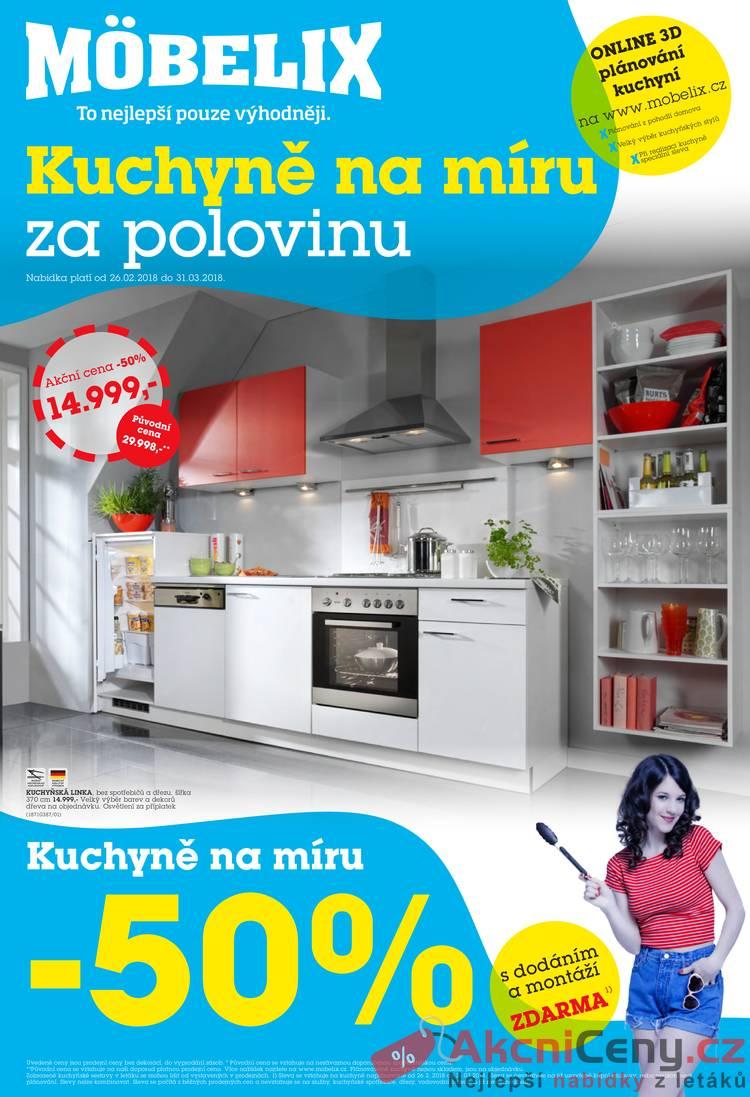 Leták Mobelix - Möbelix 26.2. - 31.3. Kuchyně - strana 1