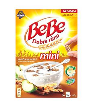 Opavia BeBe Dobré ráno mini cereální sušenky, různé druhy (6 kusů)