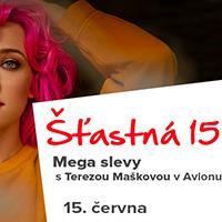 Šťastná 15 s Terezou Maškovou v OC Avion Shopping Park Ostrava