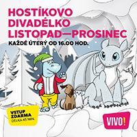 Listopadová a prosincová nadílka Hostíkova divadélka v OC VIVO! Hostivař