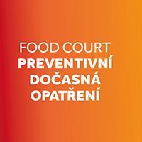 Palác Pardubice zavedl preventivní opatření ve food courtu