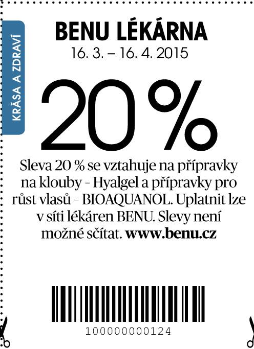 Benu Slevov kupny srpen 2020 (aktuln)