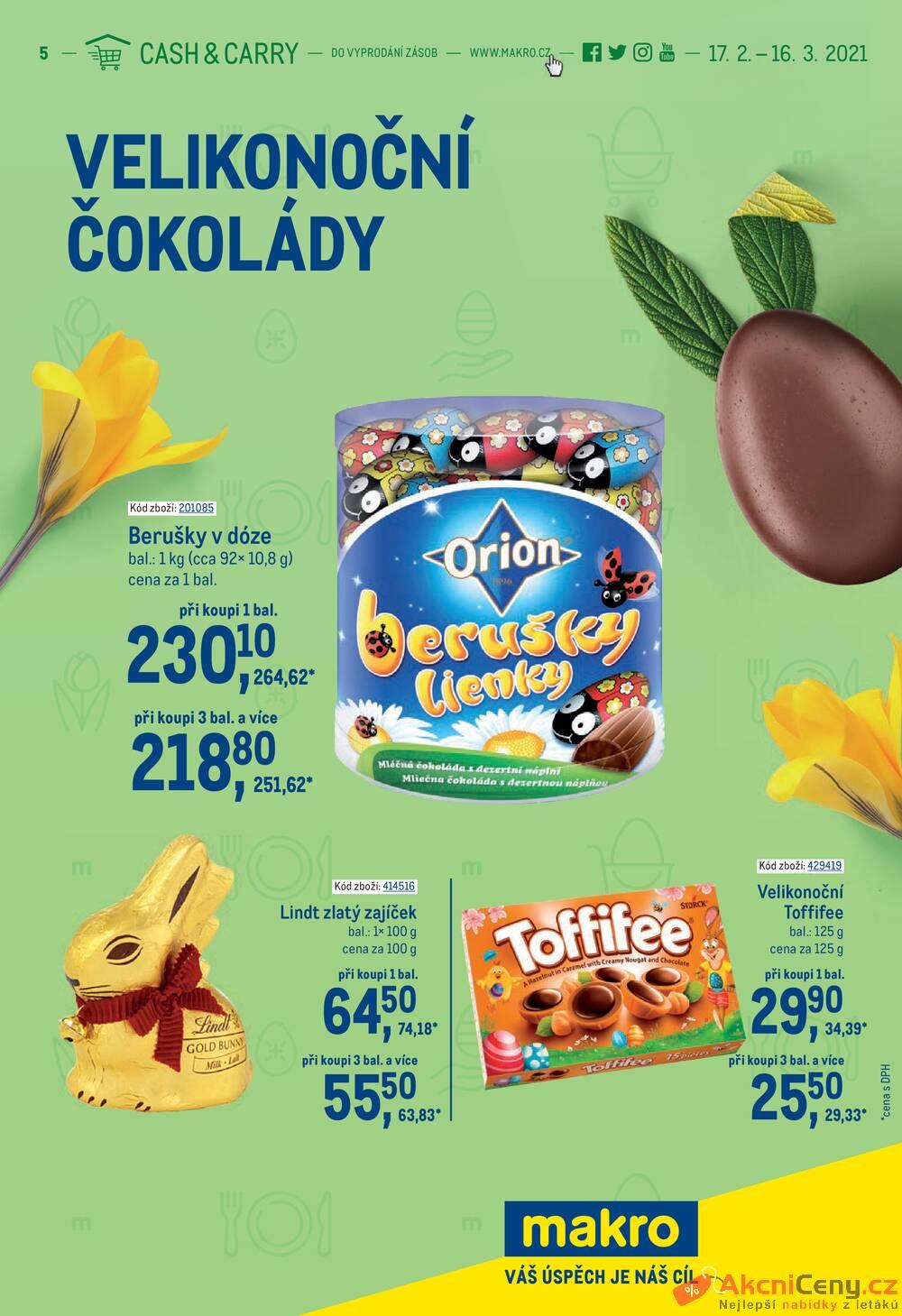 Leták MAKRO - Makro Velikonoční čokolády do 16.3. - strana 1