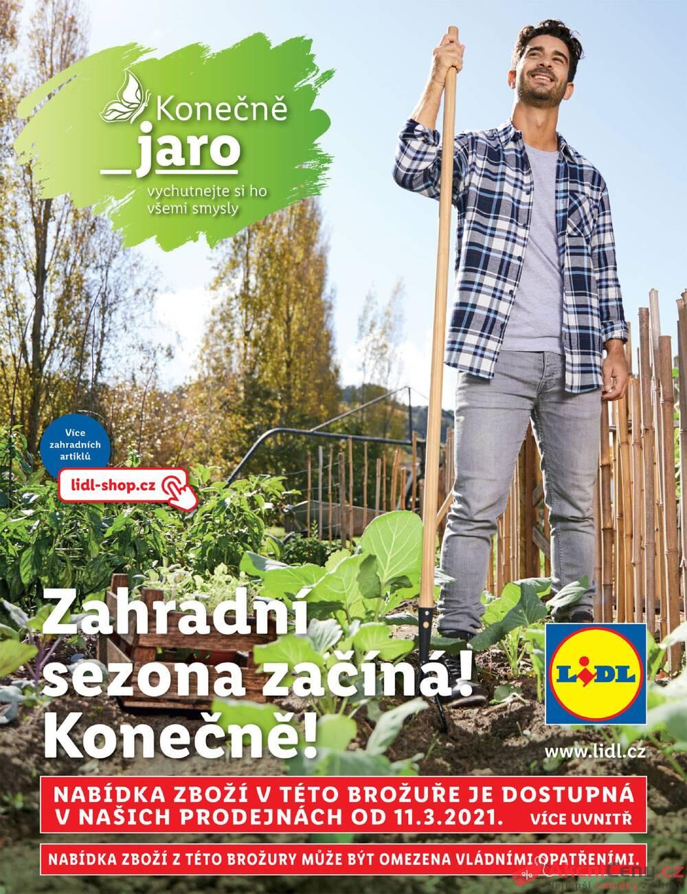 Leták Lidl - Lidl Brožura zahrada 11.3. - 25.4. - strana 1