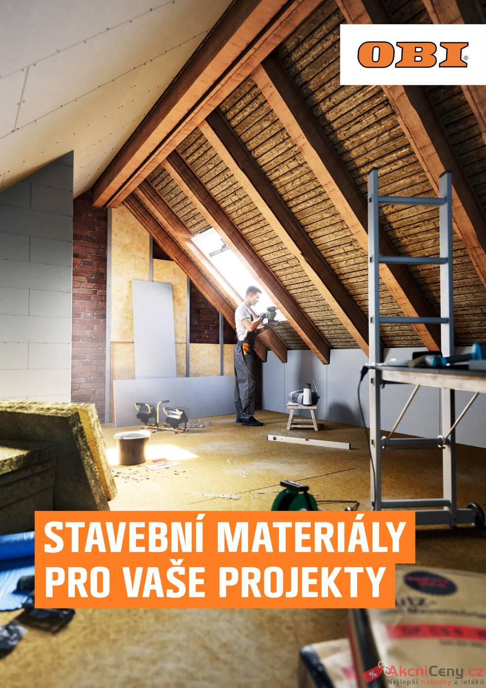 Leták OBI - OBI Stavební materiály pro Vaše projekty 1.3. - 31.5. - strana 1