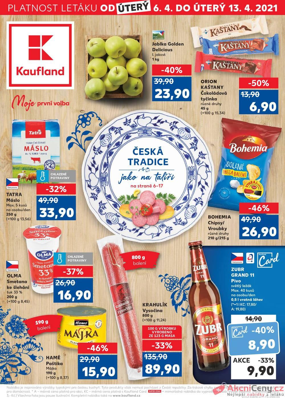 Leták Kaufland - Kaufland 6.4. - 13.4. - Kaufland - Ostrava - Zábřeh - strana 1