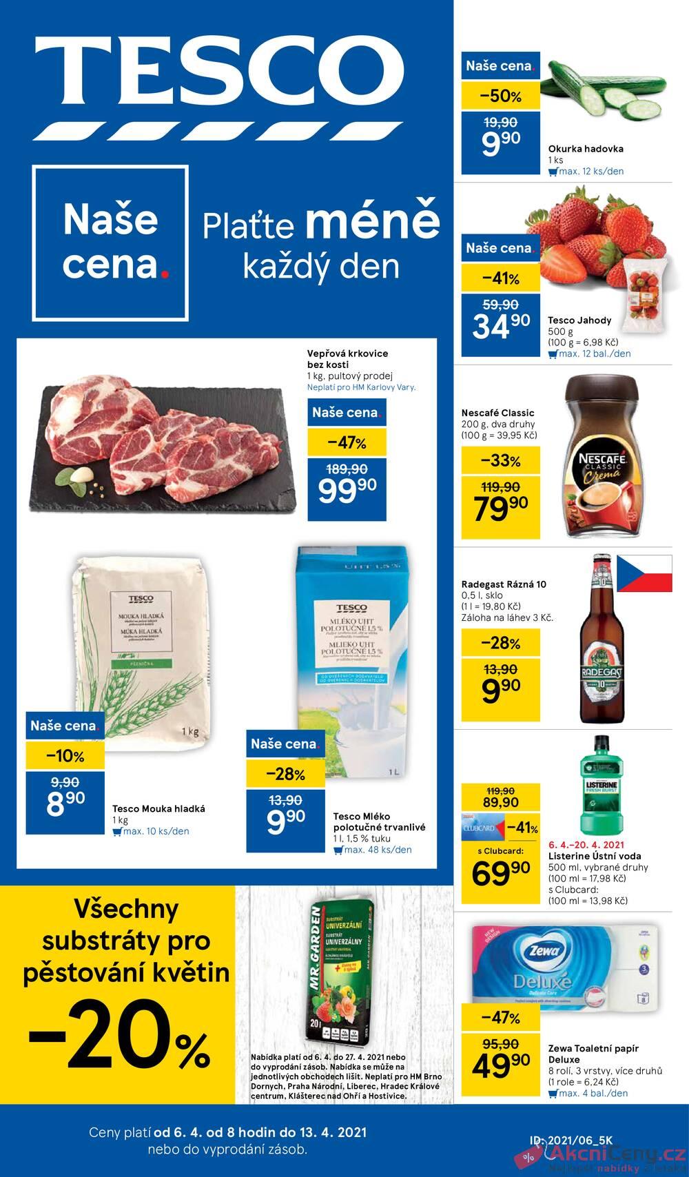 Leták Tesco - Tesco malé hypermarkety od 6.4. do 13.4.2021 - strana 1
