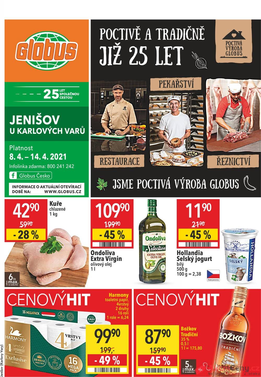 Leták Globus - Globus Jenišov  8.4. - 14.4. - strana 1