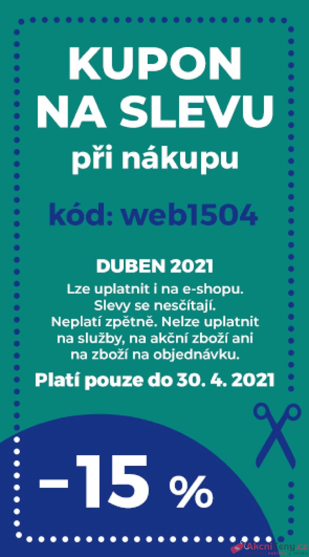 Leták Koberce BRENO - Koberce BRENO kupon do 30.4.  - strana 1