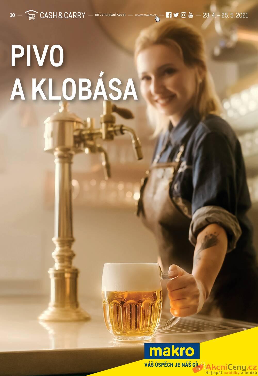 Leták MAKRO - Makro Pivo a klobása do 25.5. - strana 1