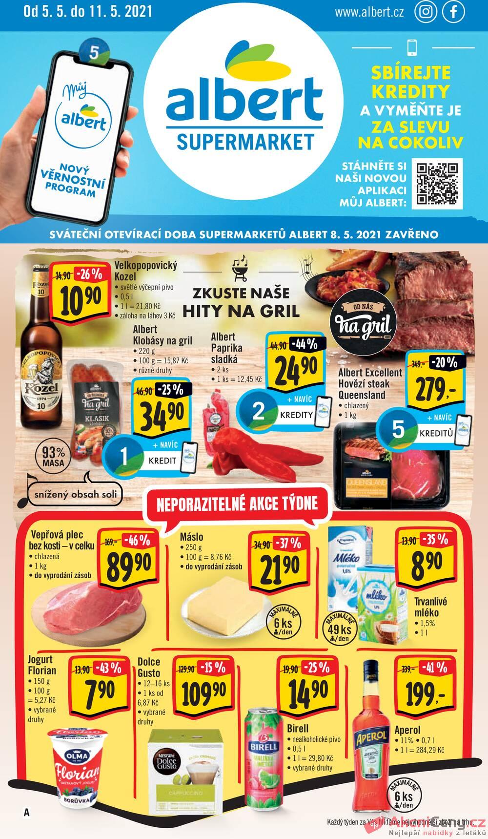 Leták Albert - Albert Supermarket od 5.5. do 11.5.2021 - strana 1