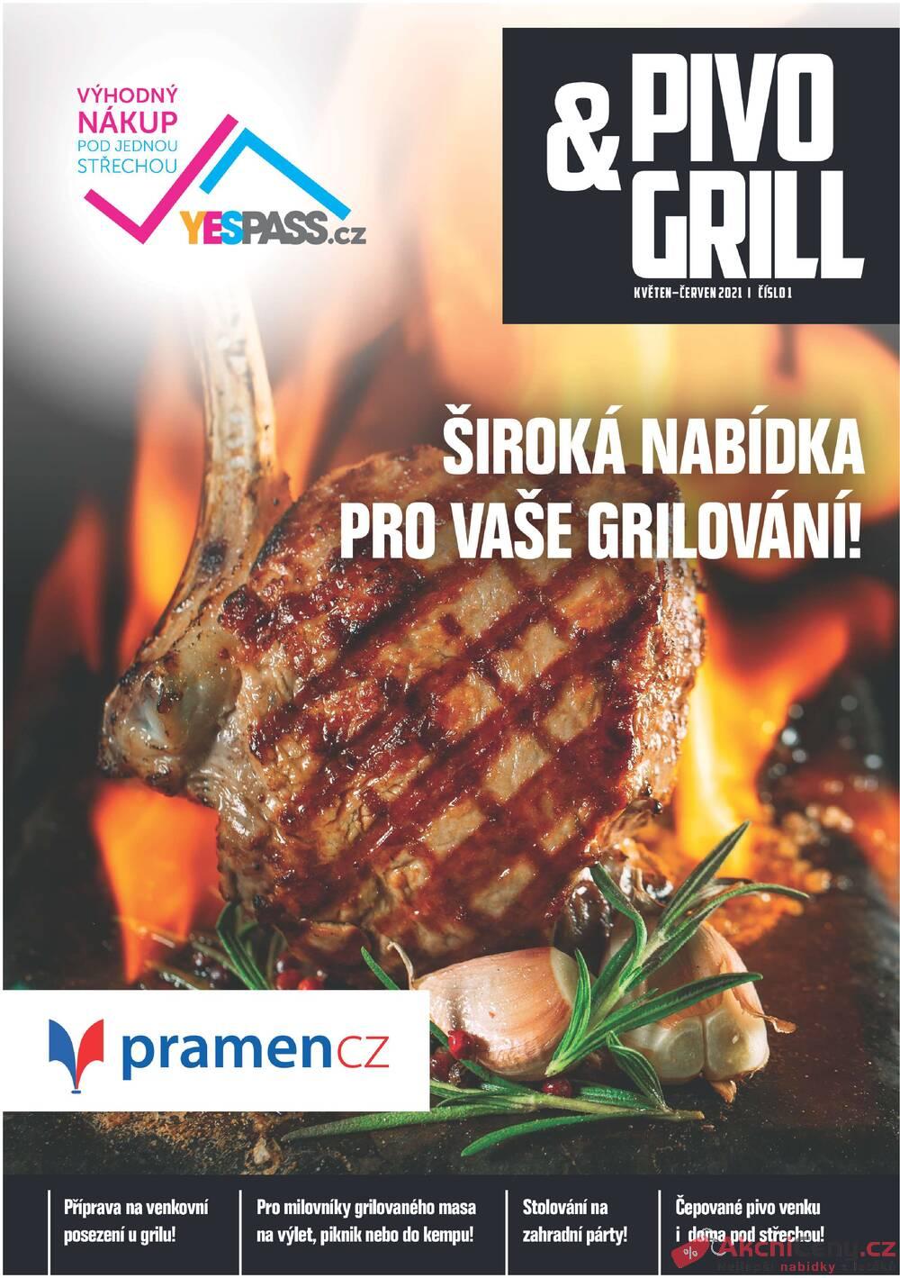 Leták Pramen - Pramen Pivo & Gril  od 1.5. do 30.6.2021 - strana 1