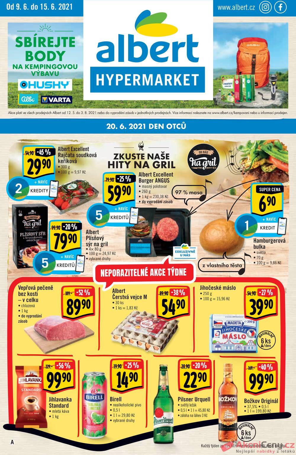 Leták Albert - Albert  Hypermarket od 9.6. do 15.6.2021 - strana 1