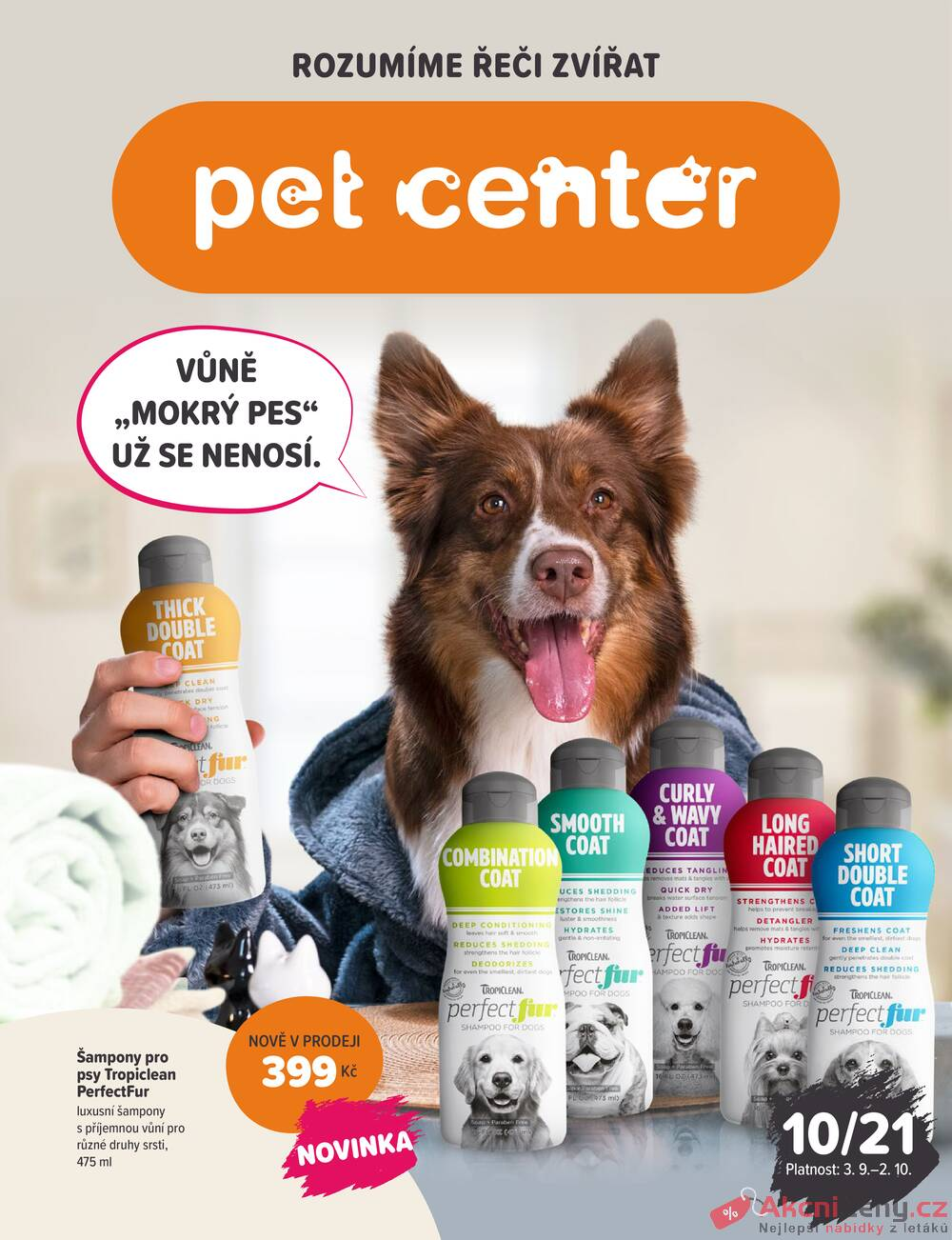 Leták Pet Center - Pet Center od 3.9. do 2.10.2021 - strana 1