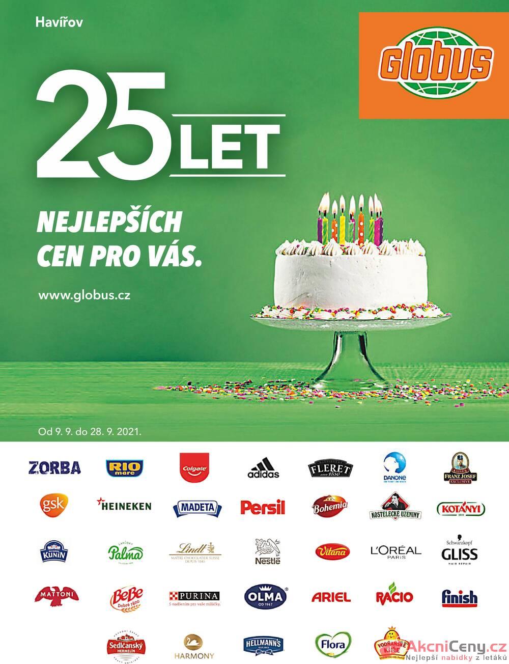 Leták Globus - Globus Havířov TOP 9.9. - 28.9. - strana 1