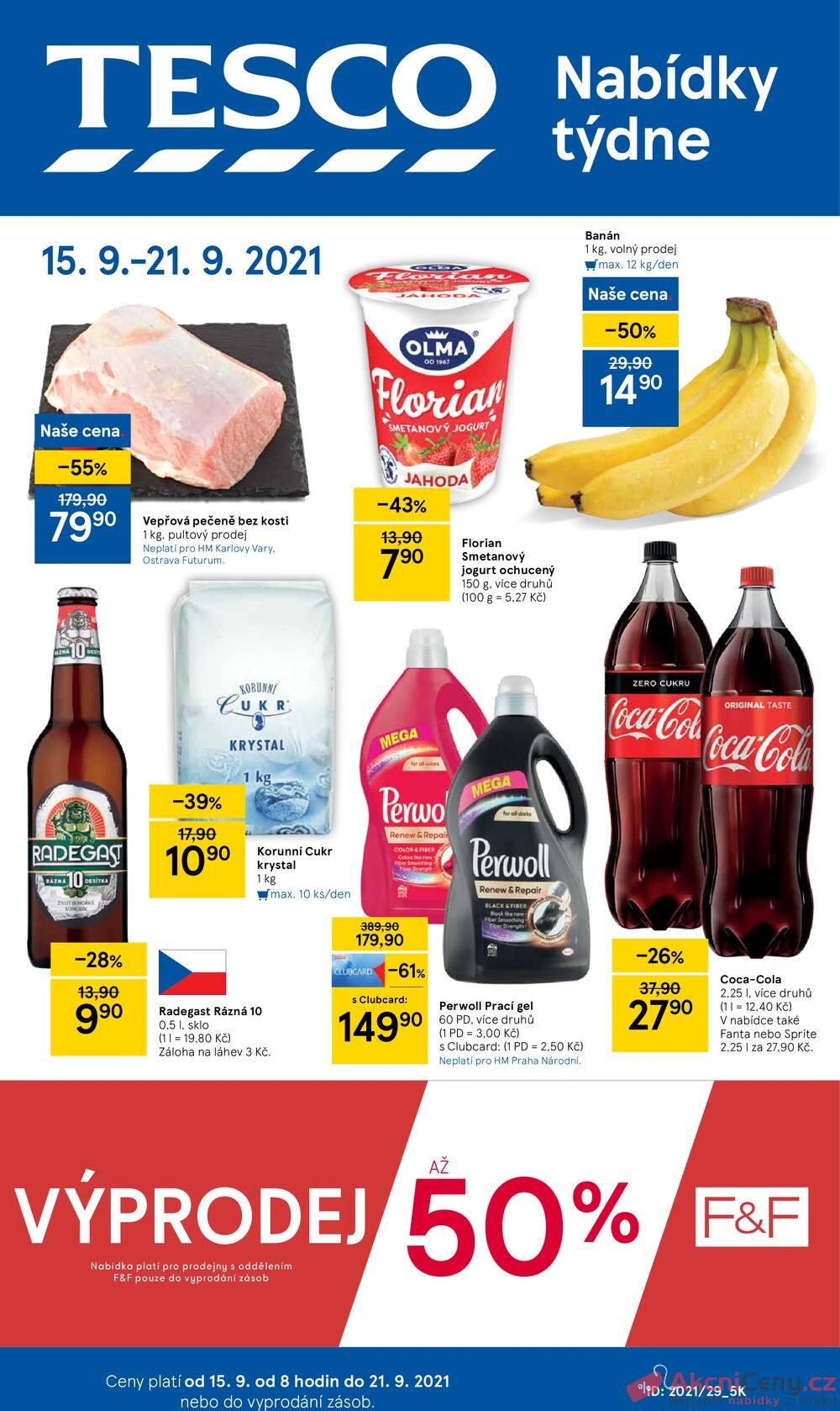 Leták Tesco - Tesco malé hypermarkety od 15.9. do 21.9.2021 - strana 1
