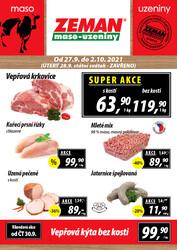 Leták ZEMAN maso-uzeniny