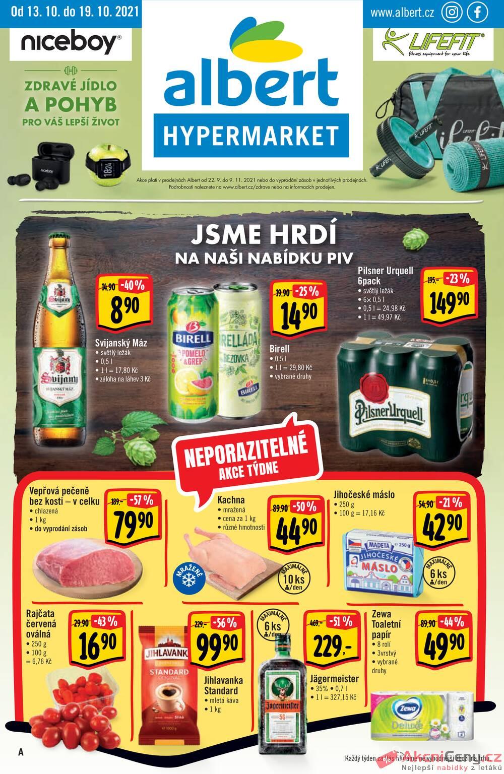 Leták Albert - Albert  Hypermarket od 13.10. do 19.10.2021 - strana 1