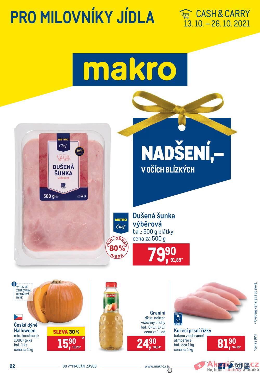 Leták MAKRO - Makro Pro milovníky jídla do 26.10. - strana 1