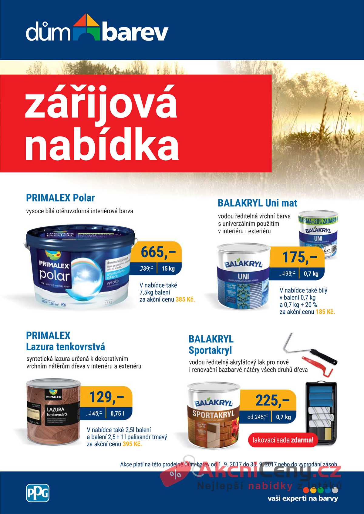 Leták Dům barev - Dům barev 1.9. - 30.9. - strana 1