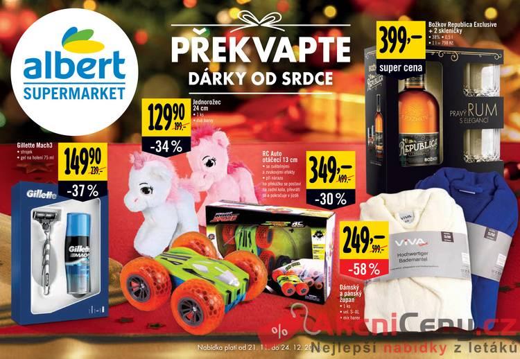 Leták Albert - Albert Supermarket katalog 21.11. - 24.12. - strana 1