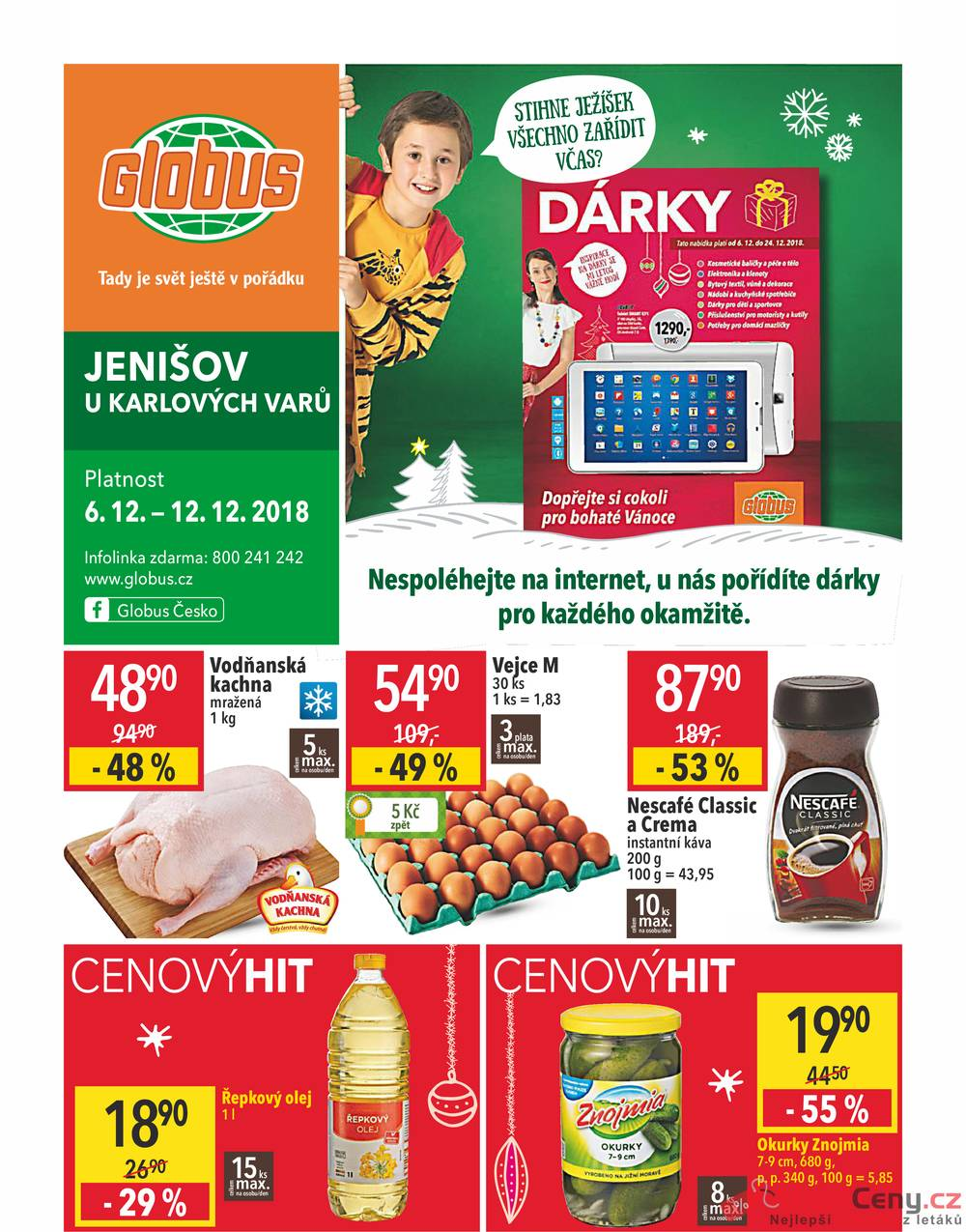 Leták Globus - Globus Jenišov  6.12. - 12.12. - strana 1