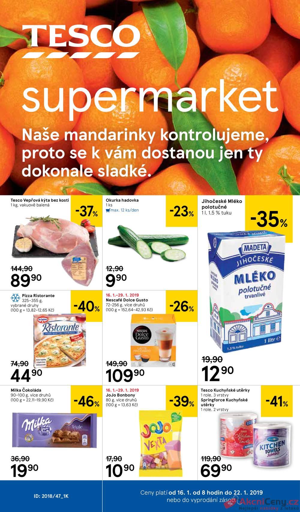 Tesco supermarkety 16.1. - 22.1.