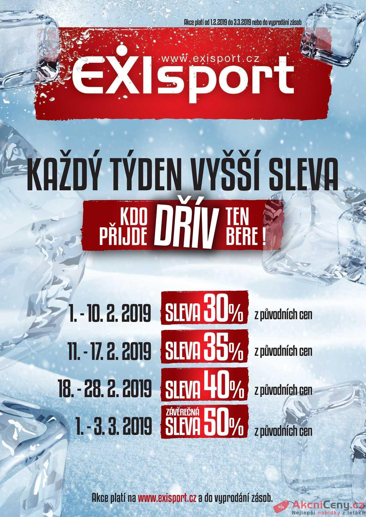 Leták EXIsport  - EXIsport 1.2. - 3.3. - strana 1