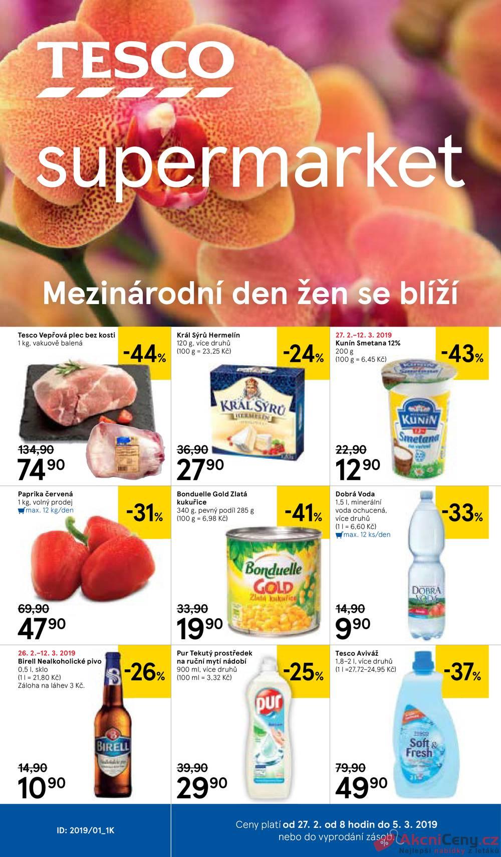 da54adbb55 Slevový leták - Tesco supermarkety 27.2. - 5.3. - eMimino.cz
