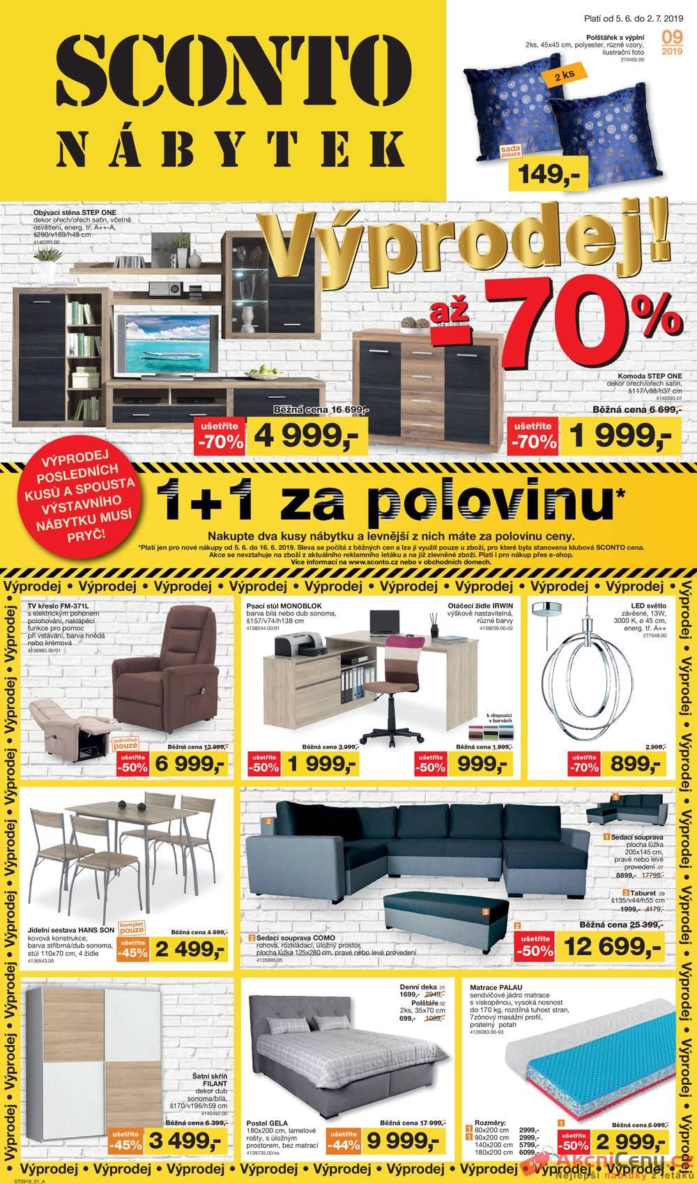 Leták Sconto nábytek - Sconto nábytek 5.6. - 2.7. - strana 1