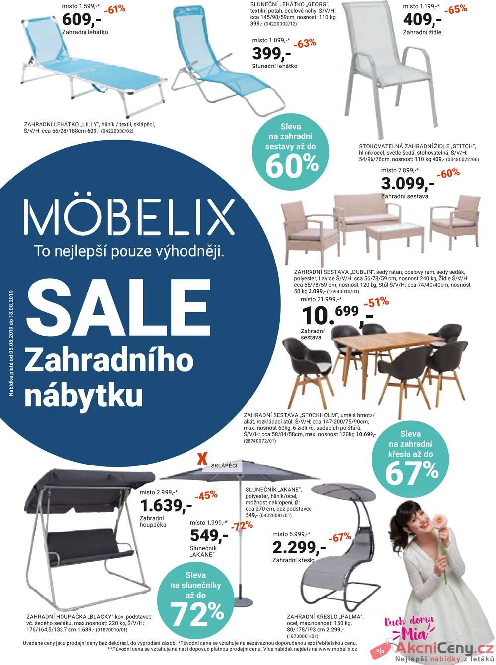Leták Möbelix - Möbelix od 5.8. do 18.8.2019 - strana 1