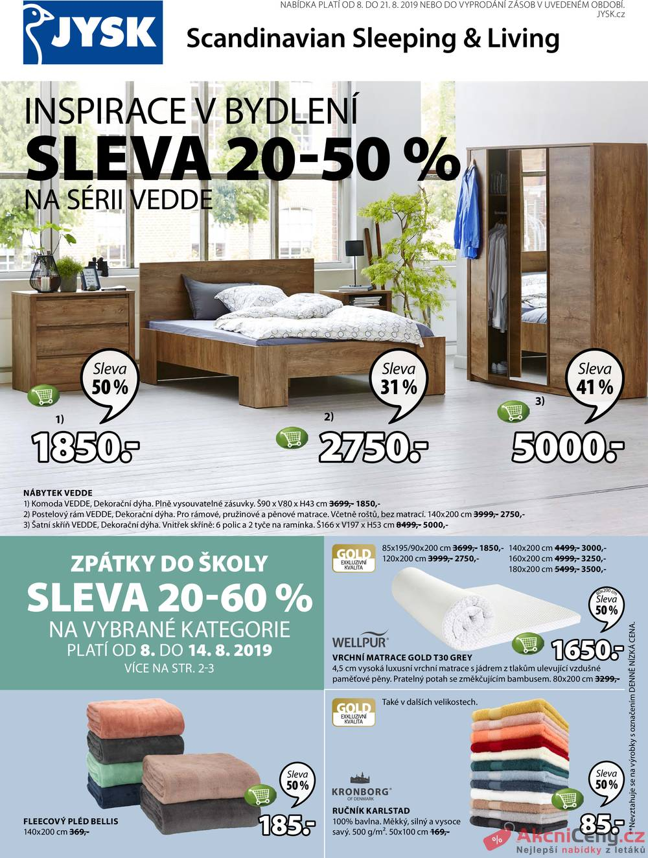 Leták Jysk - Jysk od 8.8. do 21.8.2019 - strana 1